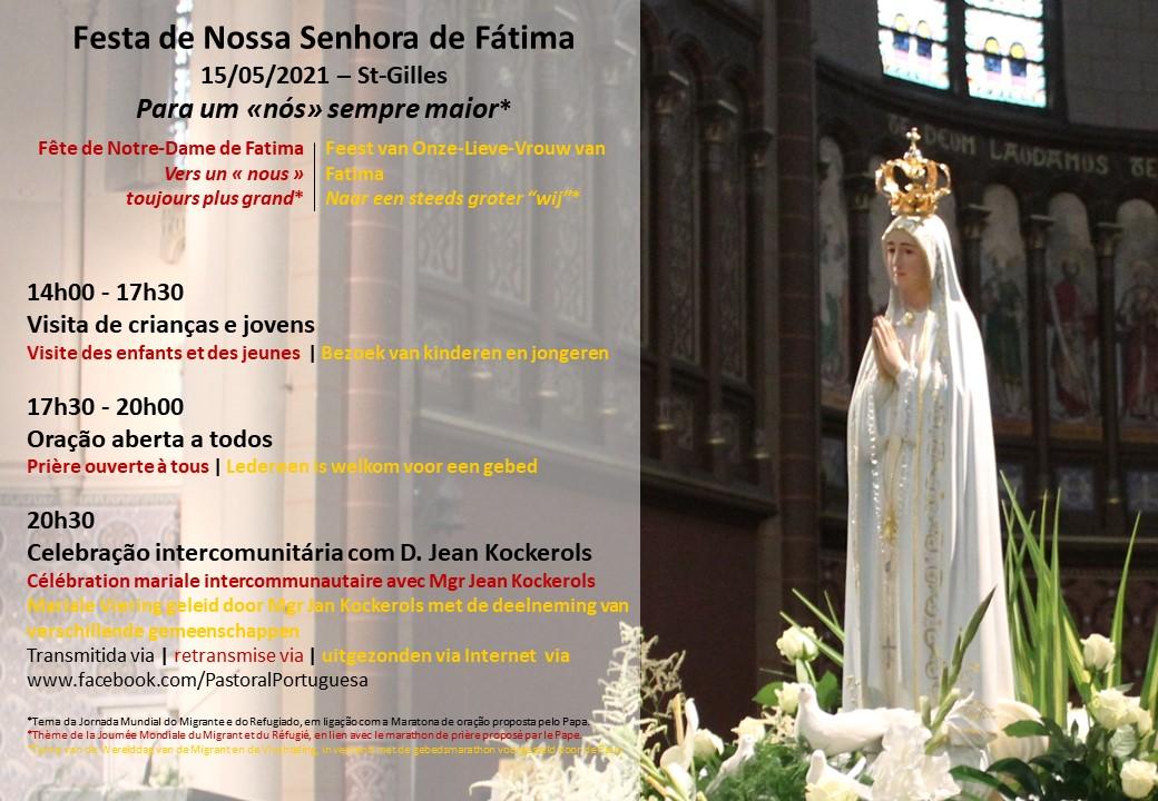 Festa de Nossa Senhora de Fátima dia 15 de Maio na Bélgica